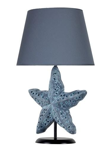 Qdec Modern Dizayn Deniz Yıldızı Abajur  Lacivert